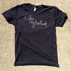 Image of I Love My Husband Script Shirt (black)