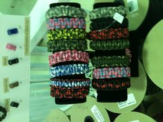 Para-cord bracelets are so popular.  We have a great selection of parachute cord!