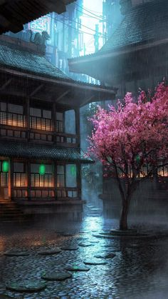 It's good is part of Landscape wallpaper It's good - Cyberpunk City, Cyberpunk Kunst, Fantasy Art Landscapes, Fantasy Landscape, Fantasy Artwork, Landscape Design, Anime Scenery Wallpaper, Landscape Wallpaper, Japon Illustration