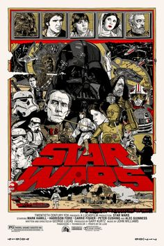Star Wars Trilogy Poster by Tyler Stout