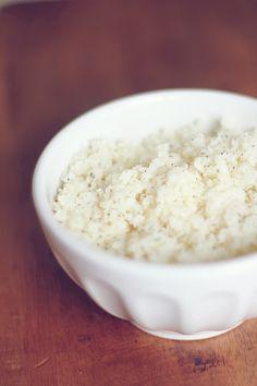 "Low Carb ""White Rice"" - cauliflower"