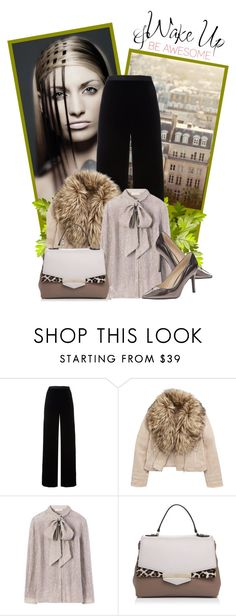 """Sem título #304"" by soleuza ❤ liked on Polyvore featuring T By Alexander Wang, Tory Burch, Kate Spade, Nine West, WALL, Winter, bow, shoes, bag and coat"