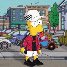 "8,950 Likes, 44 Comments - Olga Wójcik | graphic designer (@machonis) on Instagram: ""VIBES  ____________________ #TheSimpsons #Simpsons #BartSimpson #barthood #offwhite #supreme…"""