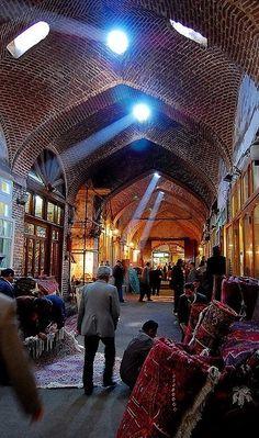 Rugs market. Tabriz. Iran.