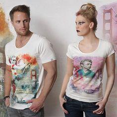 Modisches Kurzarm-T-Shirt mit hochwertigem Druck featuring James Dean. #jamesdean #fashion #popart #design #clothing #men #women #art #tshirt #streetfashion www.legends322.com