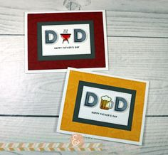 Simon Says Satmp Mom and Dad Icons | Father's Day Cards!