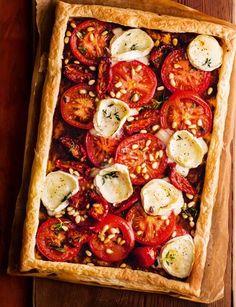 INTENSE FOOD CRAVINGS — Tomato and Goats' Cheese Tart | Sainsbury's...