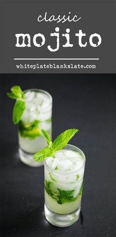 Classic mojito with white rum, mint and lime.