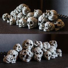 ArtStation - Evil Pumpkin Skulls, Arminas Didziokas Zombie Halloween Decorations, Halloween Ideas, Evil Pumpkin, Digital Sculpting, Zbrush, Gourds, Pumpkin Carving, 3d Printing, Sculptures