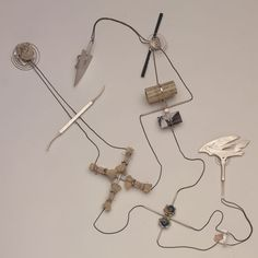 Deganit Stern Schocken – Body piece, 1993 – Nickel silver, stainless steel, silver, paper, shell