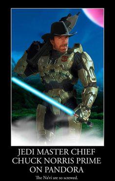 Jedi Master Chief Chuck Norris Prime On Pandora