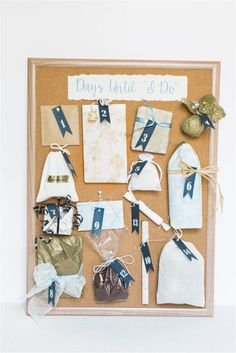 This is the perfect gift for a Maid of Honor or group of bridesmaids to give the bride before the wedding! How to DIY a Wedding Advent Calendar as a Wedding Gift for the Bride!