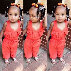 Black Baby Girls, Cute Black Babies, Beautiful Black Babies, Cute Baby Girl, Cute Babies, Lil Girl Hairstyles, Cute Hairstyles For Kids, Toddler Hairstyles, Mixed Baby Hairstyles