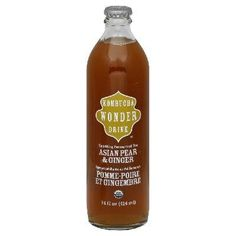 Asian Pear & Ginger Kombucha Wonder Drink- Try Kombucha and treat your body to all its amazing health benefits!
