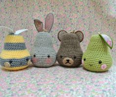 Sew Sweet Violet: A Posse Of Pears ..... crochet pear creatures