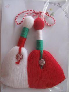 Мартеница- българския трикольор / Martisor-Bulgarian three colors.