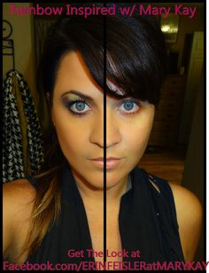 Rainbow inspired Shadow Before and After look using nothing but #MARYKAY www.facebook.com/ERINFEISLERatMARYKAY www.marykay.com/EF