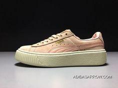 602b0b2a519f1 Puma X Rihanna THE CREEPER Pink White Women Sneaker 363663-09