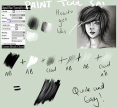 PT Sai Brush Settings + Hair Tut or whatever by SeikouChan.deviantart.com on @deviantART