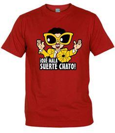 Camiseta Que Mala Suerte Chato, Camisetas Series De Los 90, Camisetas Television, Fanisetas, Camiseta del popular personaje Pepe Gáfez, con su famosa frase ¡qué mala suerte chato . Este peculiar personaje hizo su aparición en...