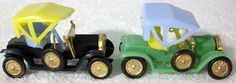 Two Vintage 1973 Wilton Model T Car Plastic Cake Toppers