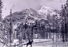 Banff Springs Hotel back in the day