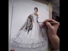 How to illustrate fabrics in fashion sketch- LACE and COTTON / LINEN Tutorial