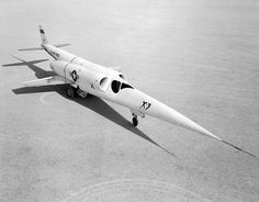 The Douglas X-3 Stiletto experimental jet aircraft built in 1952 for the US Air Force.
