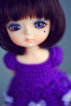 purple dress #dolls