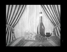 Placeres de la vida - Lápiz carbón - 33x25
