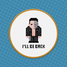 Picture of Terminator Cross Stitch Pattern Free Download