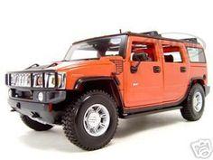 diecastmodelswholesale - 2003 Hummer H2 SUV Orange 1/18 Diecast Model Car by Maisto, $33.49 (http://www.diecastmodelswholesale.com/2003-hummer-h2-suv-orange-1-18-diecast-model-car-by-maisto/)
