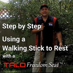 Available now, makes a great gift. The TALO Freedom Seat is the pocket size hammock used with your walking stick or trekking poles. Take a load off with the TALO Freedom Seat by Maximum Win LLC, Innovations for the Outdoor Enthusiast. Made in the USA