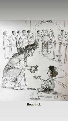 See everyone please🙏 Lord Ganesha Paintings, Lord Shiva Painting, Orisha, Indian Gods, Indian Art, Lord Shiva Stories, Cute Couple Cartoon, Lord Mahadev, Shiva Wallpaper