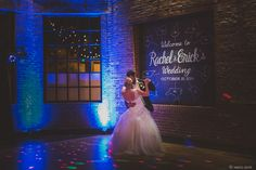 Absolutely stunning reception. Bride and groom dance. Wedding at The Cookery in Durham, NC.