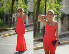 Salmon pink night... | Tuğba Tunçkaya  Tuğba Tunçkaya  http://www.tugbasatelier.com    #fashion #tugbatunckaya #loveit #style #styleblogger #streetstyle