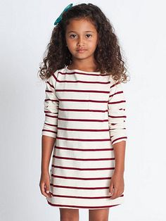 American Apparel - Kids Long Sleeve Sailor Stripe Dress