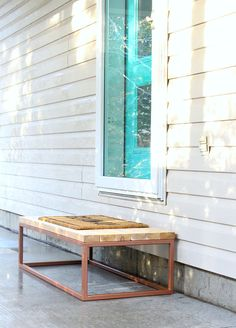 How to make a welded front step with cedar wood top // DIY welded step #CedarWood #Welding #DiyDecor