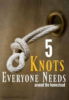 5 Essential Knots for Every Homestead | PreparednessMama