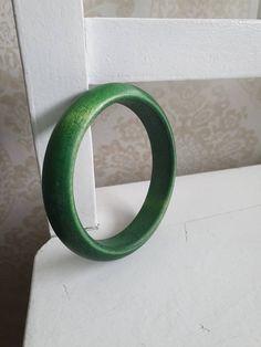 Finnish Aarikka Green bangle from the Bangles, Green, Etsy, Vintage, Bracelets, Vintage Comics, Bracelet, Cuff Bracelets, Arm Bracelets