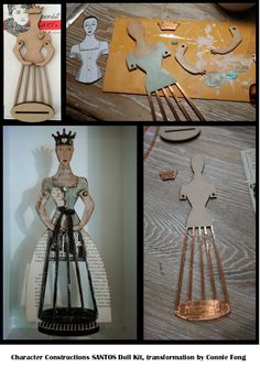 Santos Doll Kit by Character Constructions. Transformation by artist Connie Fong. Paper Art, Paper Crafts, Art Crafts, Crafty Angels, Reading Art, Guys And Dolls, Primitive Christmas, Character Creation, Paper Toys