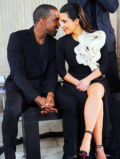 I don't know what their future holds but I love this picture.   Kanye West, Kim Kardashian