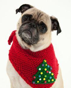 Christmas Dog Bandana by thedoggiemarket on Etsy Bandanas, Christmas Cats, Christmas Sweaters, Christmas Ideas, Designer Dog Clothes, Cute Pugs, Dog Sweaters, Pug Love, Dog Bandana