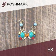 Earrings Multi color drop earrings Jewelry Earrings