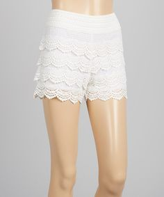 Look at this Whispers White Crochet Shorts on #zulily today!
