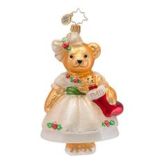 Radko Ornaments Muffy Vanderbear Christmas Ornament Muffy Christmas Rose Bear