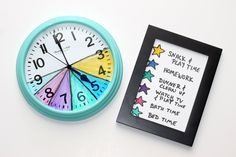 One of the best skills you can teach your child is time management. Use a color-coded clock and a legend to help your family stay focused after
