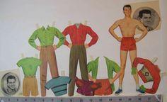 """Vintage 1957 """"Rock Hudson"""" paper doll by julesartstuff on Etsy"""
