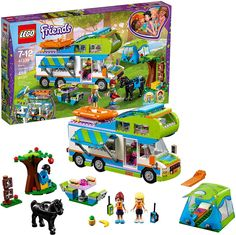 LEGO 41339 Friends Heartlake Mia's Camper Van Playset, Mia and Stephanie Mini Dolls, Build and Play Fun Toys for Kids Lego City, Legos, Van Lego, Lego Friends Sets, Lego Girls, Best Gifts For Girls, 10 Year Old Girl, 9th Birthday, Birthday Gifts