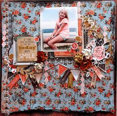 Kaisercraft - Blubelle - Layout by Rachael Funnell - Wendy Schultz - Scrapbook Pages 1.